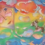 «Творить с Любовью». Роспись по ткани Алёны Самарцевой.