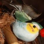 Декоративная кормушка из бересты «Птичий домик»