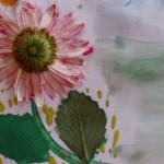 Рисование отпечатками листьев деревьев и цветов